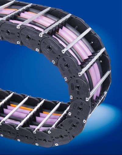 Druhou produktovou řadou výrobce energetických řetězů Kabelschlepp je řada VARIO LINE.